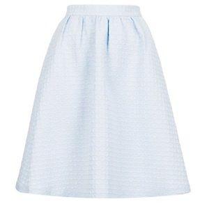 Topshop Light Blue Midi Skirt